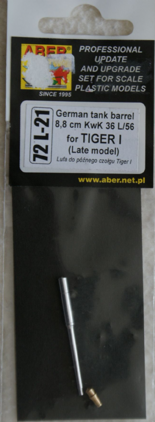 ABER 1/72 72L-21 88L56 for Tiger I Late